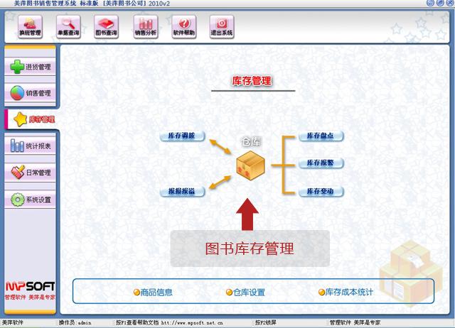 美萍图书库存管理软件