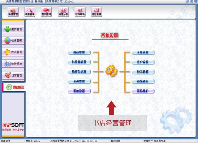 美萍书店经营管理软件