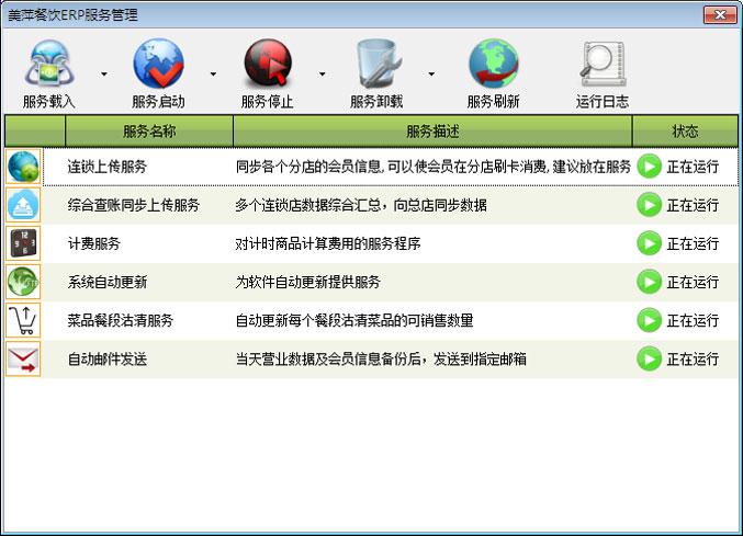 美萍餐飲ERP管理軟件-服務程序