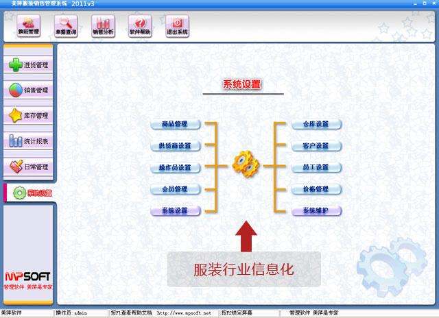 美萍服装信息化管理软件