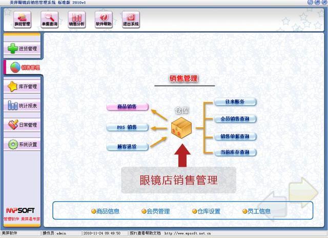 美萍眼镜店销售管理软件