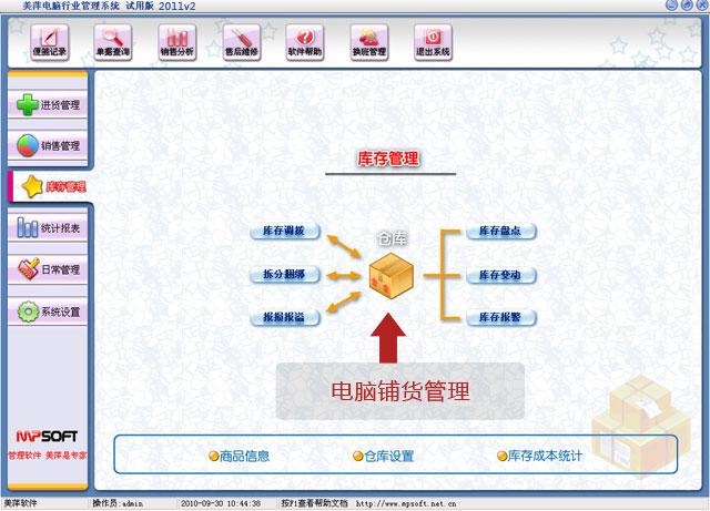 美萍电脑铺货管理软件