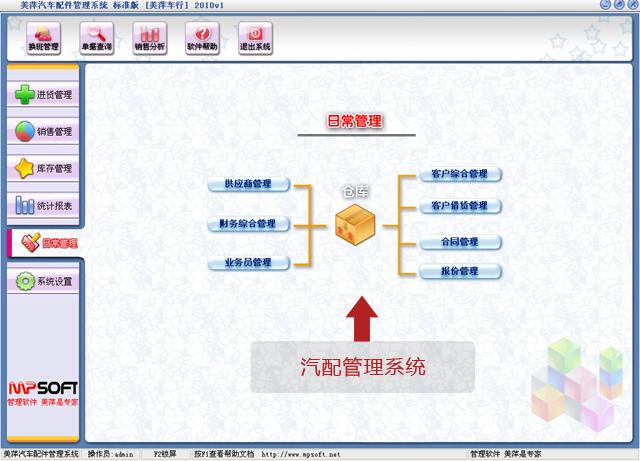 美萍汽配管理系統