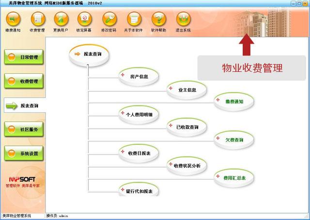 美萍物業收費管理軟件
