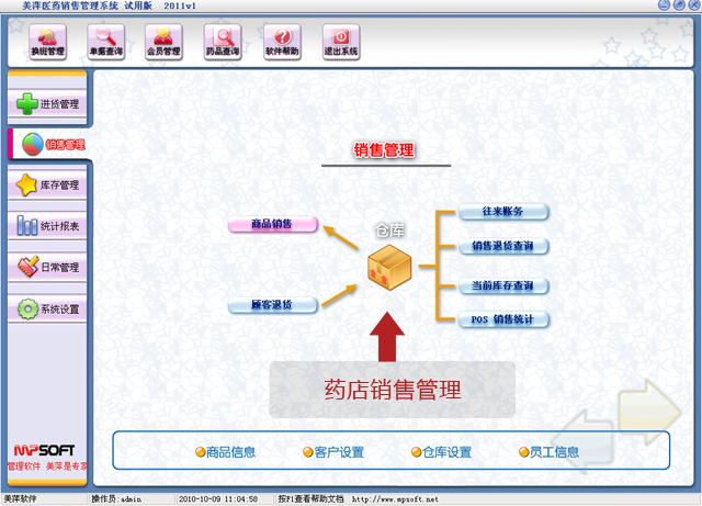 美萍药店销售管理软件